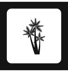 Palm trees icon simple style vector