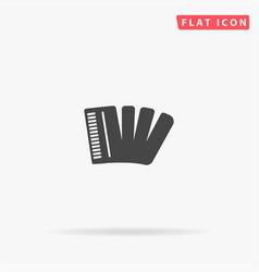 Piano accordion flat icon vector