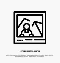 Picture image landmark photo line icon vector