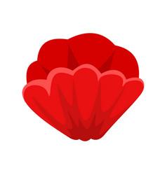 Poppy flower icon flat style vector