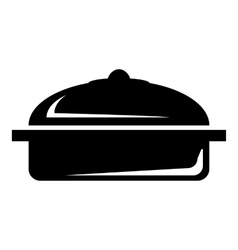 Pot icon simple style vector