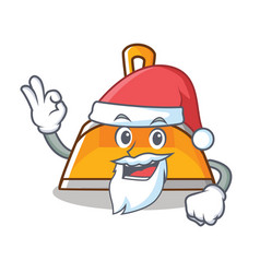 santa dustpan character cartoon style vector image