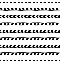 seamless hand drawn pattern with arrows vector image