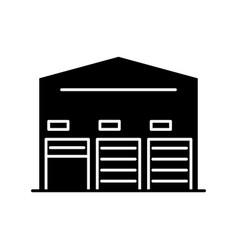 self storage unit black glyph icon vector image