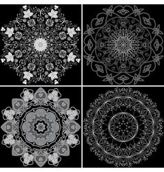 Set four ornamental pattern vector