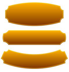 Set of 3 rectangular plaque banner backgrounds vector