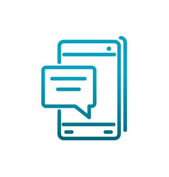 Smartphone speech bubble sms message vector