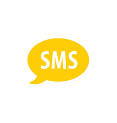 sms text message logo glyph style icon vector image