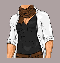 Stylish attractive man vector