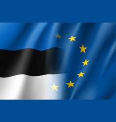 Symbol estonia is eu member vector