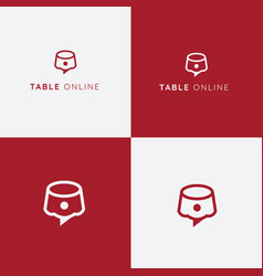 Table reservation logo restaurant icon vector