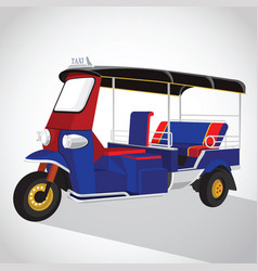 Tuk tuk in thailand vector