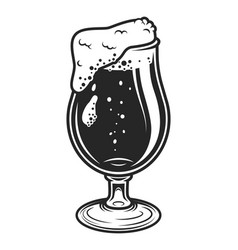 vintage monochrome beer glass concept vector image