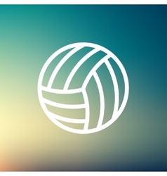 Volleyball ball thin line icon vector image