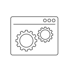 web development line icon vector image