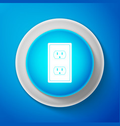 white electrical outlet in the usa icon isolated vector image