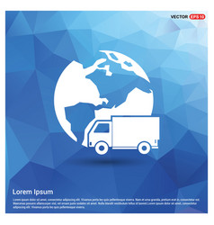 Worldwide delivery icon vector