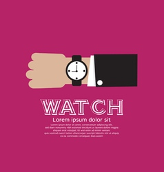 Wristwatch EPS10 vector