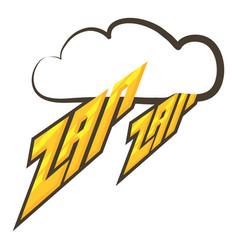 Zap-zap sound effect icon cartoon style vector