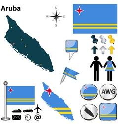 Aruba map vector image