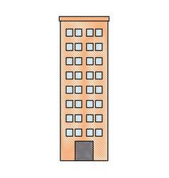 building icon tower city architecture house vector image