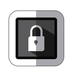 contour lock icon stock vector image