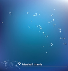 Map of Marshall Islands vector image