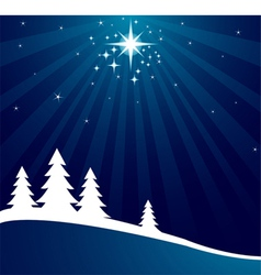 radial christmas background vector image