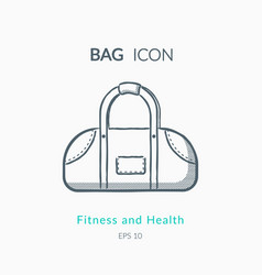 sports bag icon on white background vector image