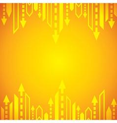 Yellow arrow background vector image