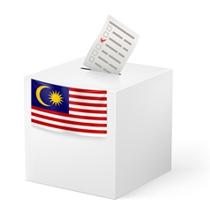 Ballot box with voting paper malaysia vector