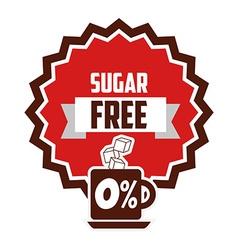 sugar free design vector image vector image