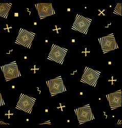 a black and gold optical seamless black vector image