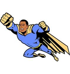 Black Flying Superhero vector image vector image