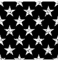 Grunge stars seamless pattern retro vector image vector image