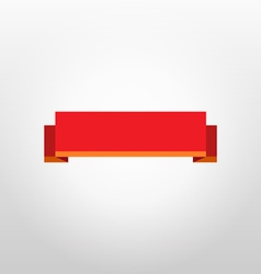 Red Ribbon on white background under glow vector image vector image