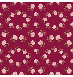 Seamless vintage roses pattern vector image vector image