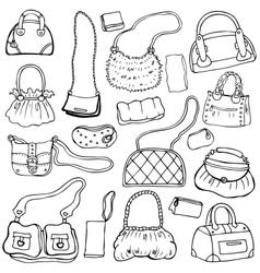 Womens handbags Hand drawn Set 1 vector image