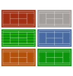 different tennis courts vector image