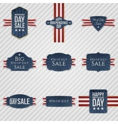 Independence Day patriotic Banners Set vector image