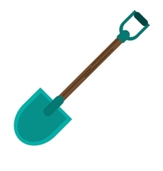 Isolated shovel tool design vector image vector image