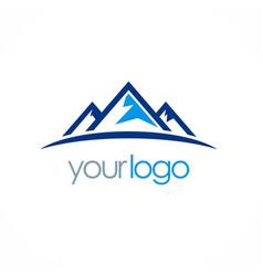 mountain triangle logo vector image vector image