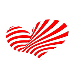 red heart of strips vector image vector image