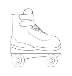 roller skate isolated vector image