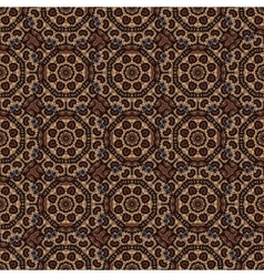 seamless pattern with a round Oriental elements vector image