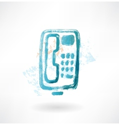 telephone with buttons grunge icon vector image vector image