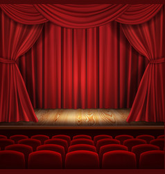 theater concept classic scene with vector image