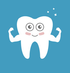 whitening tooth power vector image vector image