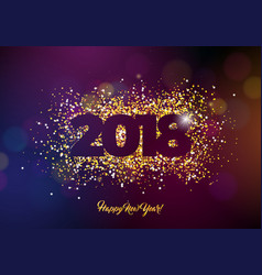 2018 happy new year background with vector