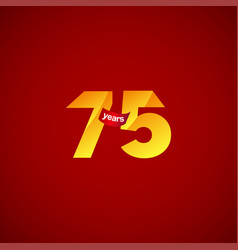 75 years anniversary celebration logo template vector